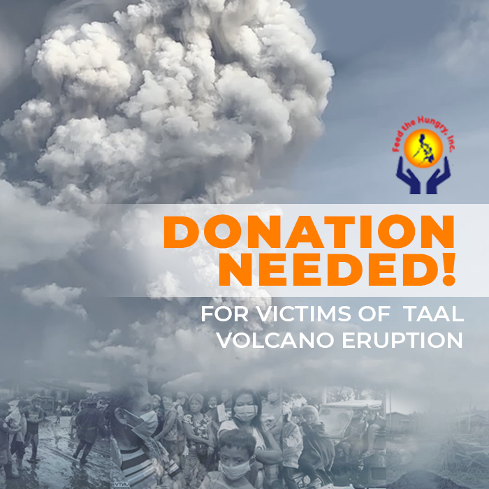 Donations Needed for the Victims of Taal Volcano Eruptions